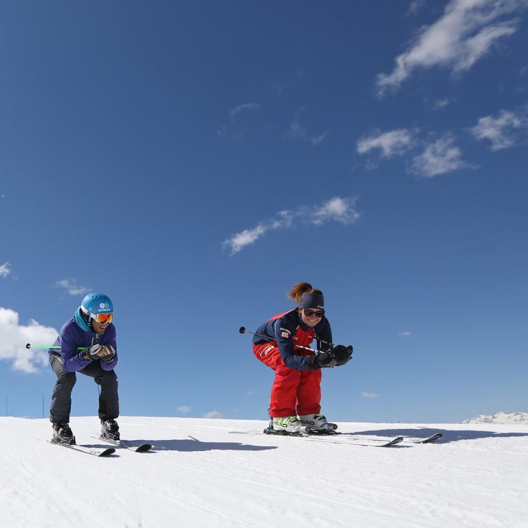 Ski débutants : sous le soleil exactement !